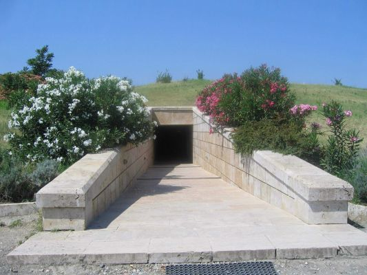 Griechenland Vergina Tombs Entrance