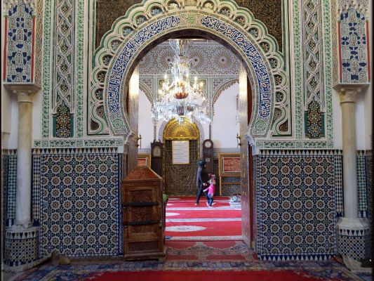 Marokko, Fes, Moulay Idris Mausoleum