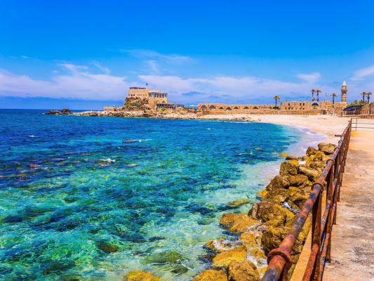 Caesarea Am Meer I Stock